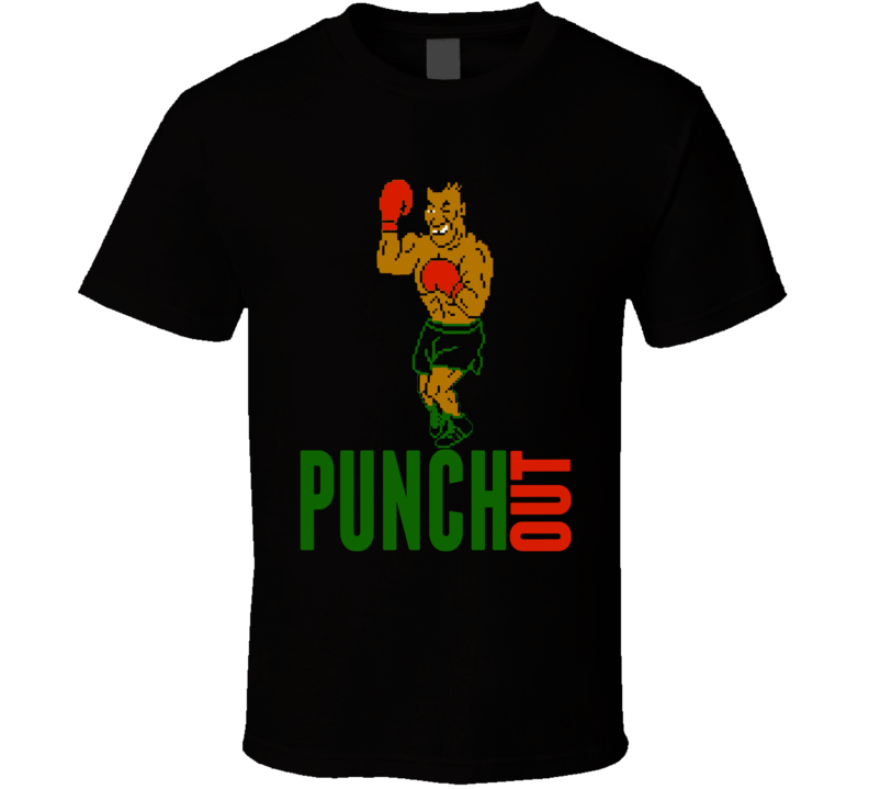 Mike Tyson Punch Out Boxing Gloves Video Game Boxer Champion T Shirt