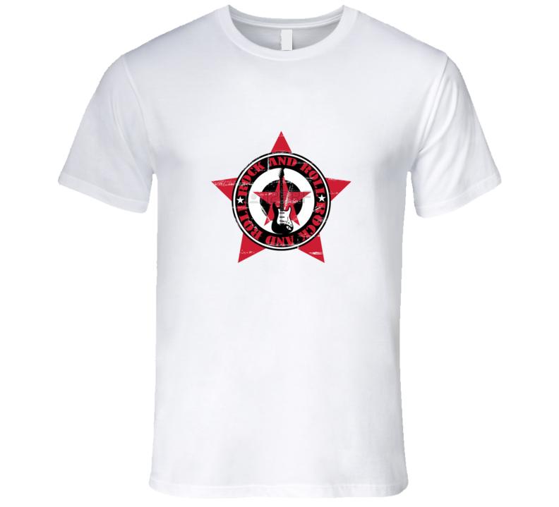 Rock Star Guitar  T Shirt