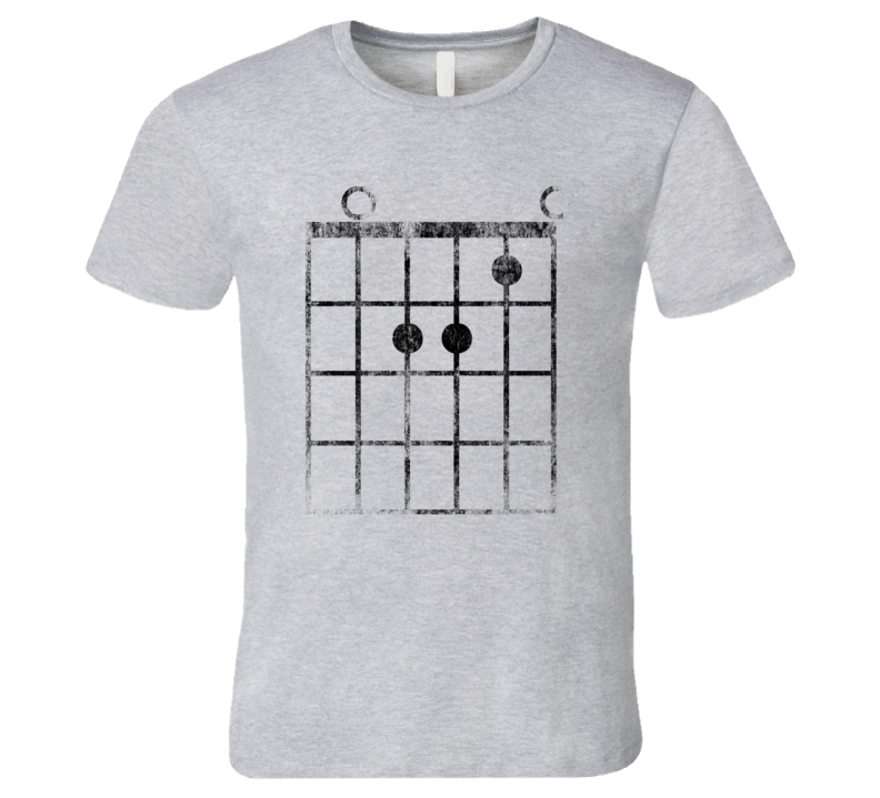 Guitar Fret A-Minor Chord T-Shirt Faded Funny Music Jazz Rock and Roll Musician Tshirt