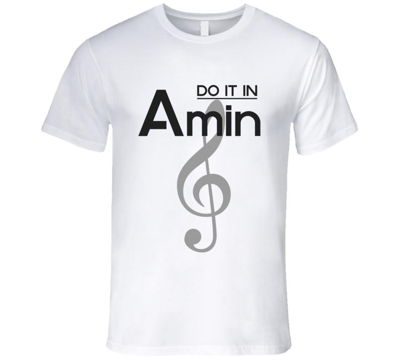 Do It In A-Minor Music Chord T-shirt Treble Clef Tshirt