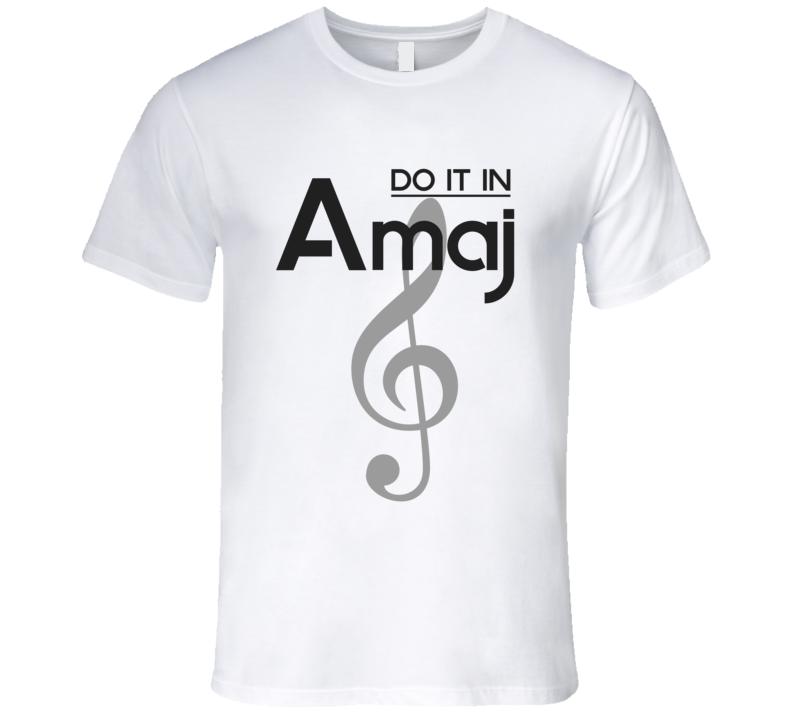 Do It In A-Major Music Chord T-shirt Treble Clef Tshirt