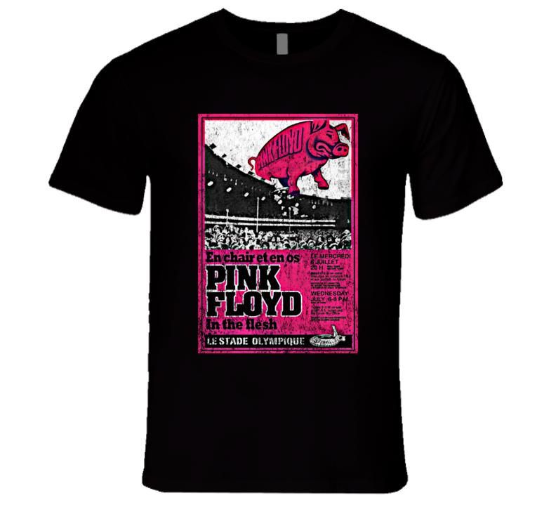 Pink Floyd Rock Concert Poster Vintage Faded T-Shirt