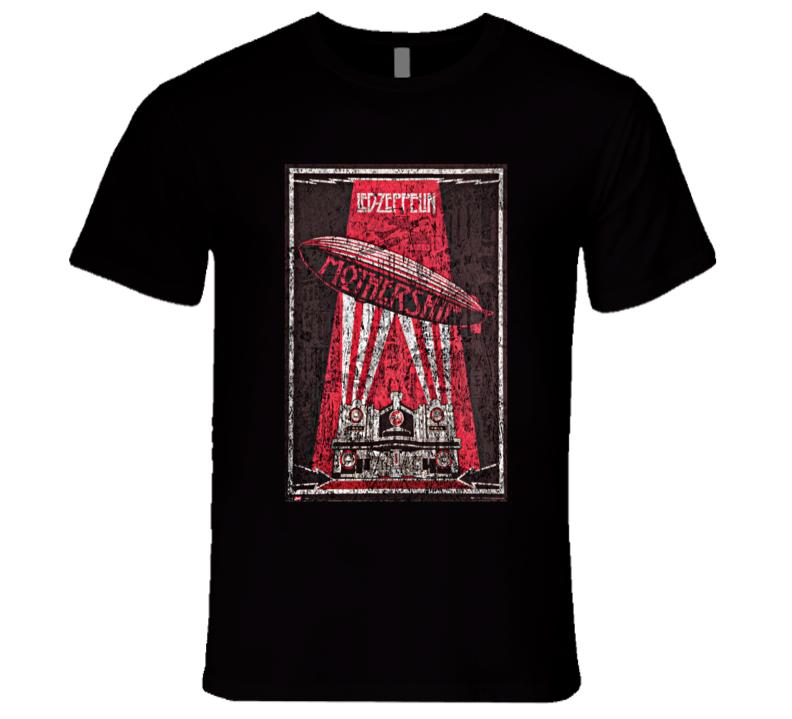 Led Zeppelin Rock Concert Vintage Poster Faded T-Shirt