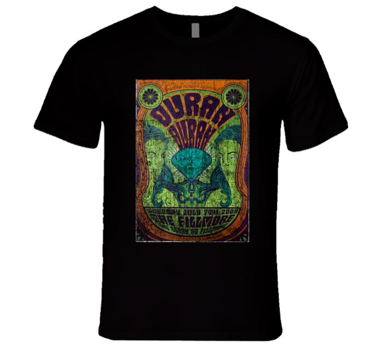 Duran Duran Rock Concert Vintage Poster Faded T-Shirt