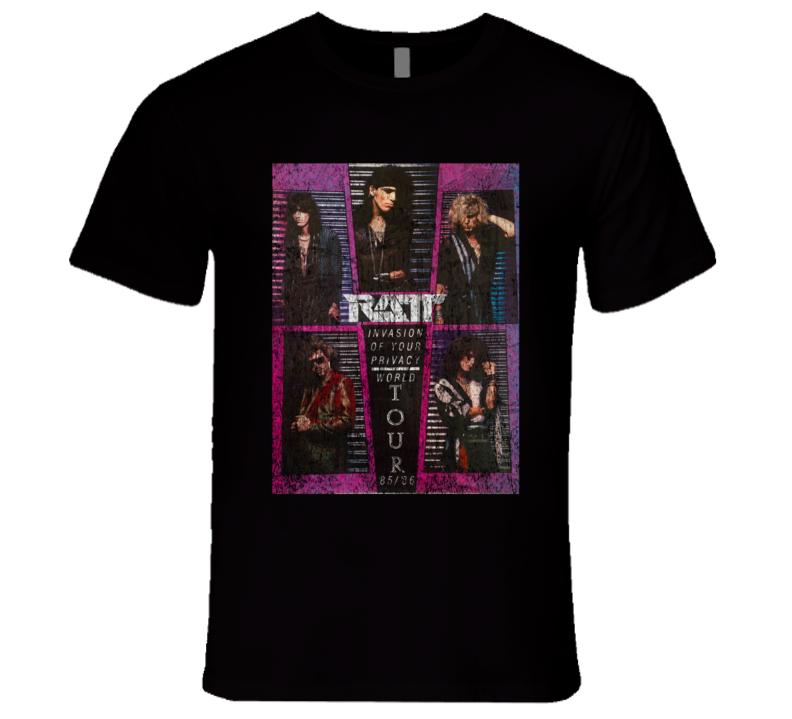 RATT Rock Concert Vintage Poster Faded T-Shirt