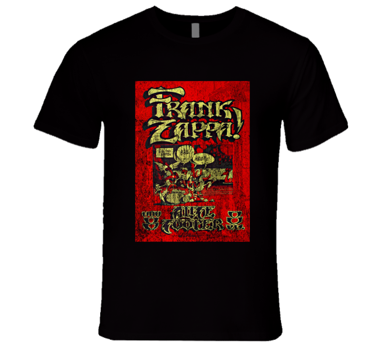 Frank Zappa Rock Concert Vintage Poster Faded T-Shirt