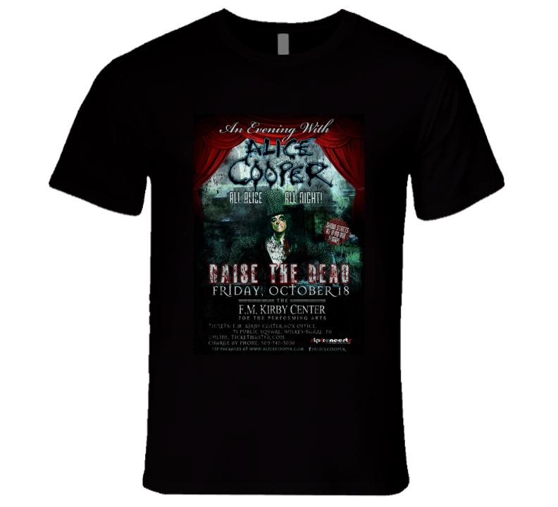 Alice Cooper Rock Concert Vintage Poster Faded T-Shirt