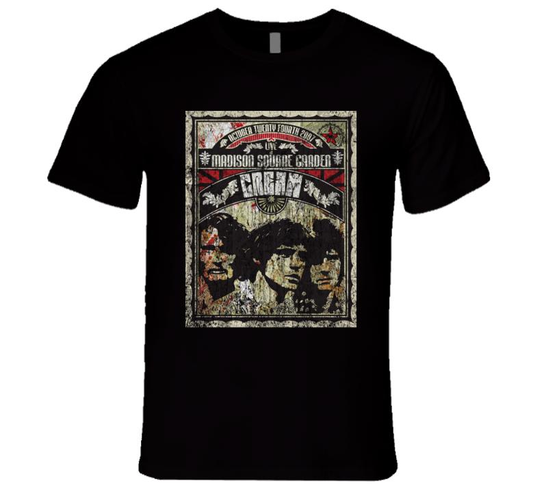 Cream Rock Concert Vintage Poster Faded T-Shirt