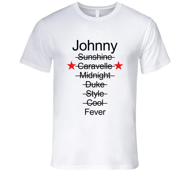 WKRP Dr. Johnny Fever Mug Names T-Shirt