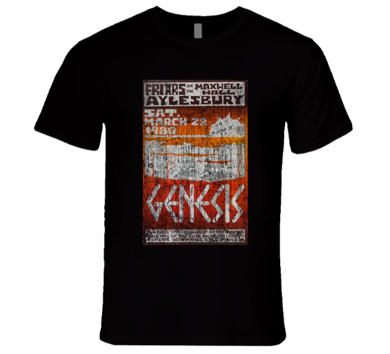 Genesis Rock Concert Vintage Poster Faded T-Shirt