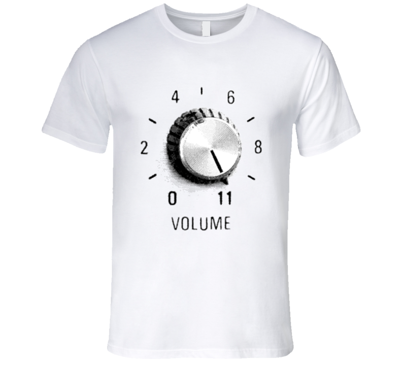 This goes to 11 Guitar Volume Knob at Eleven Rock and Roll T-Shirt