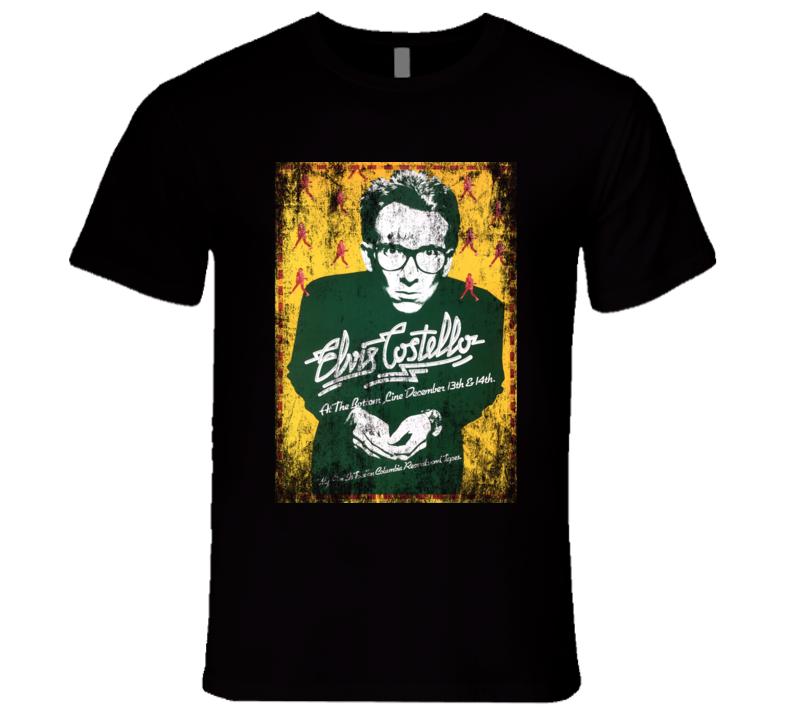 Elvis Costello Rock Concert Vintage Poster Faded T-Shirt