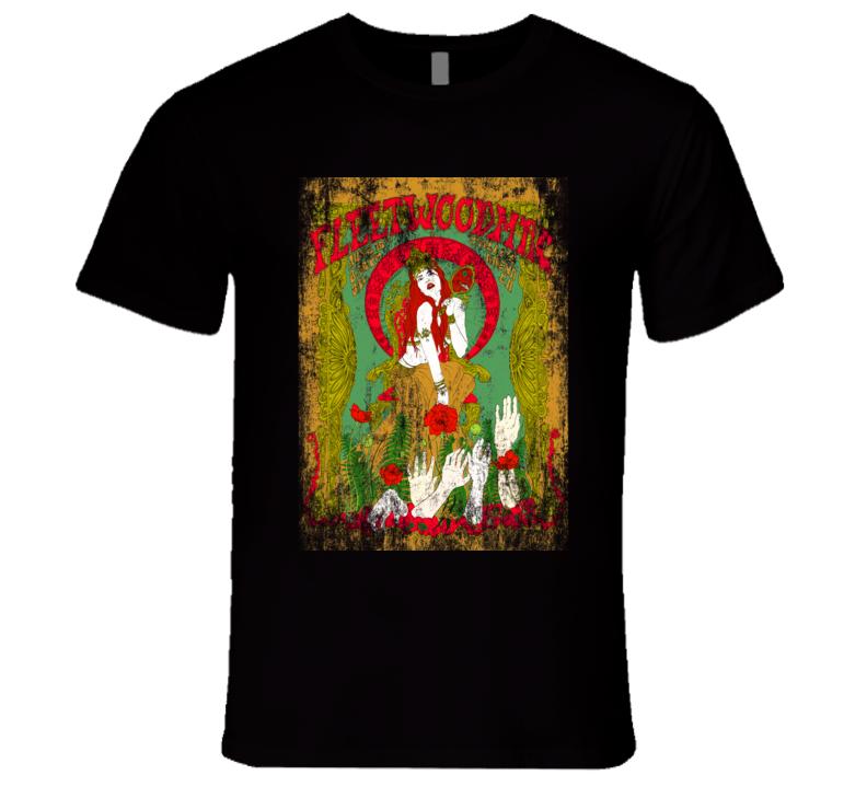 Fleetwood Mac Rock Concert Vintage Poster Faded T-Shirt