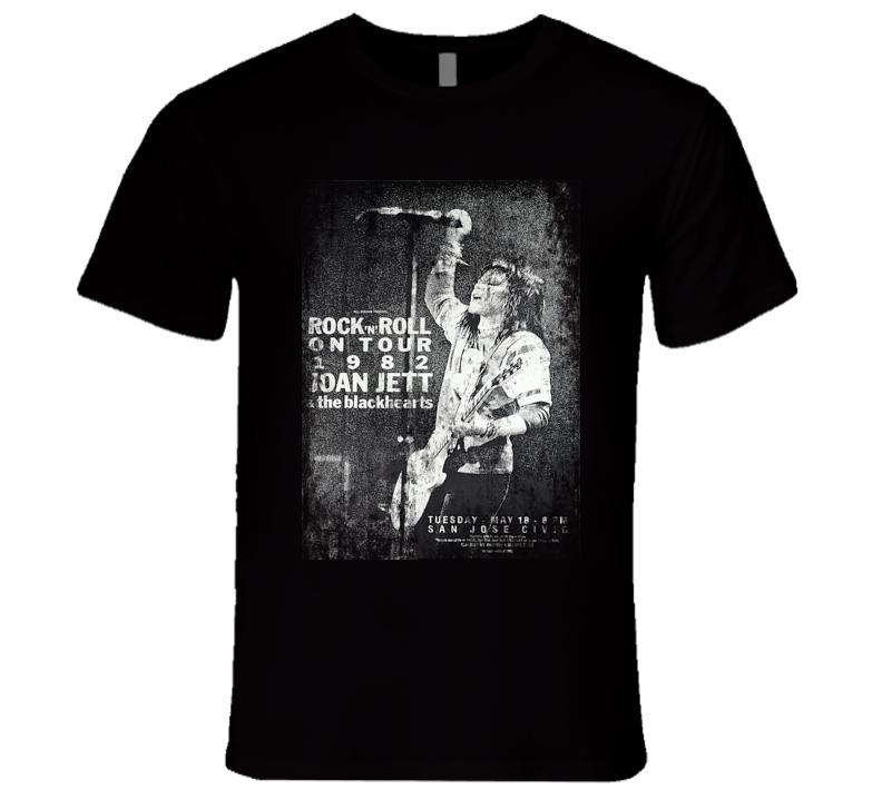 Joan Jett Rock Concert Vintage Poster Faded T-Shirt