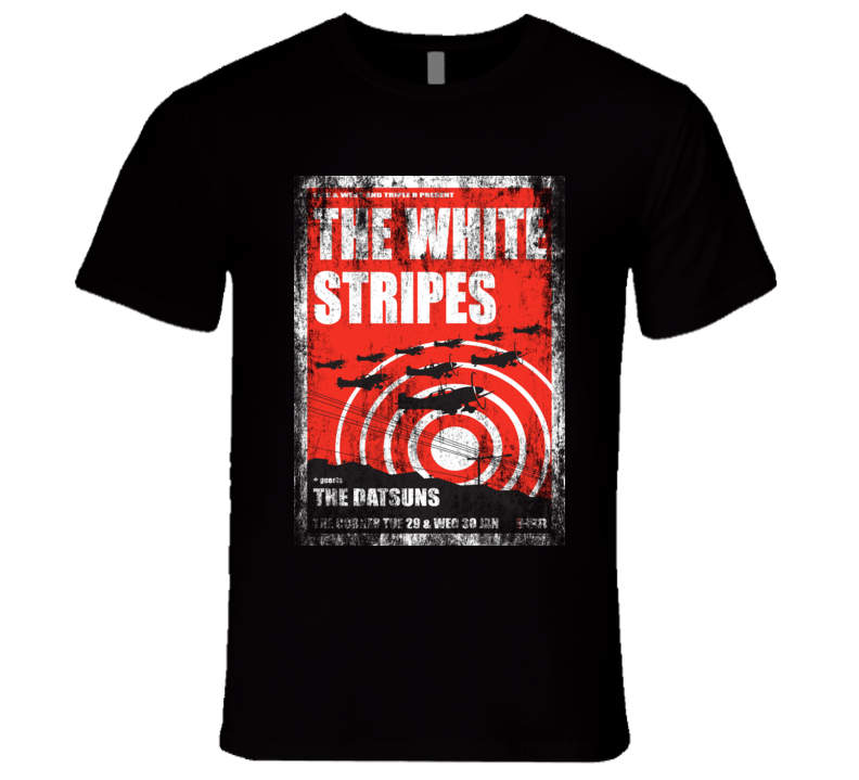 The White Stripes Rock Concert Vintage Poster Faded T-Shirt