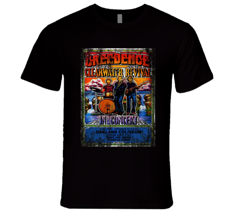 Creedence Clearwater Revival CCR Rock Concert Vintage Poster Faded T-Shirt