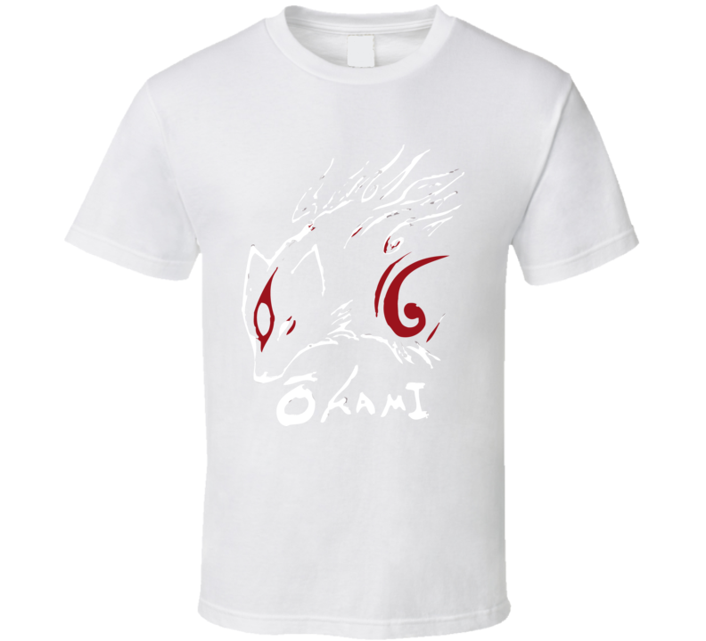 Okami Video Wolf Game Artistic Anime T Shirt