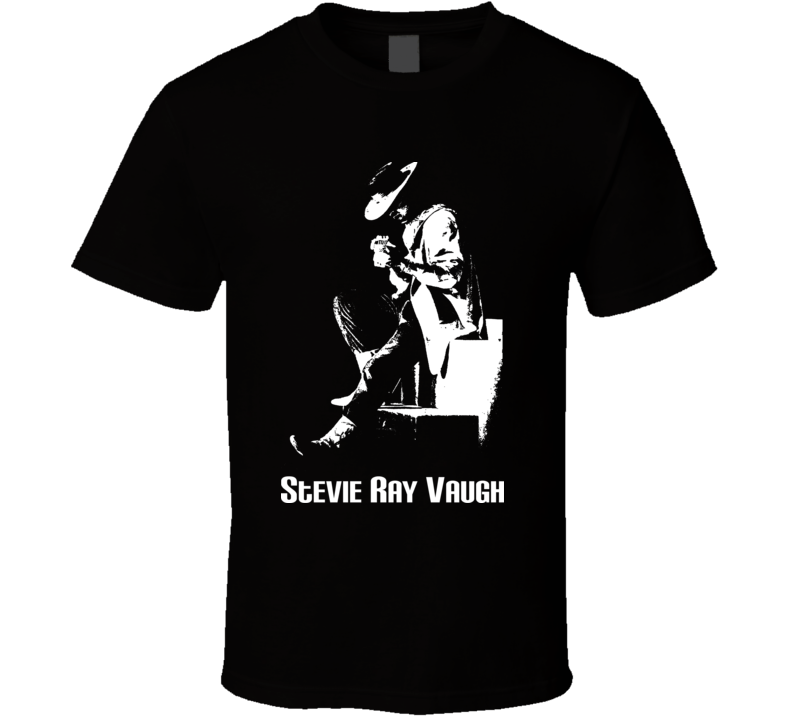 Stevie Ray Vaughan Live Music Guitar T Shirt