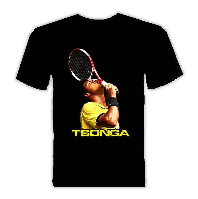Jo Wilfried Tsonga France Tennis T Shirt