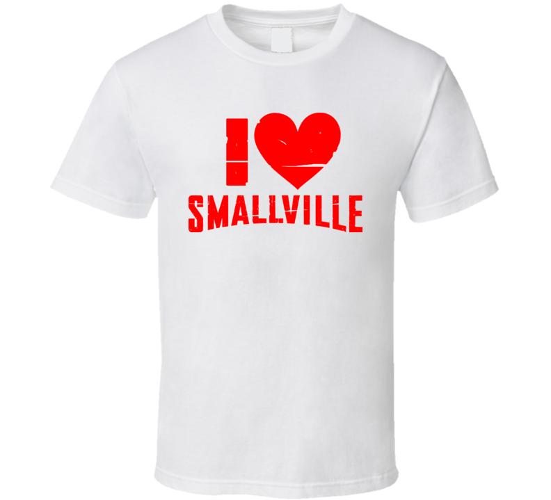 I Love Heart Smallville Tv Show T Shirt