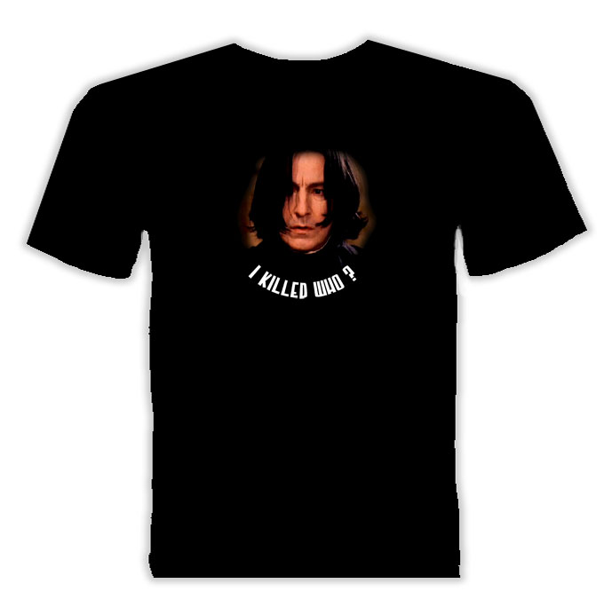 Alan Rickman Snape Movie Actor T Shirt