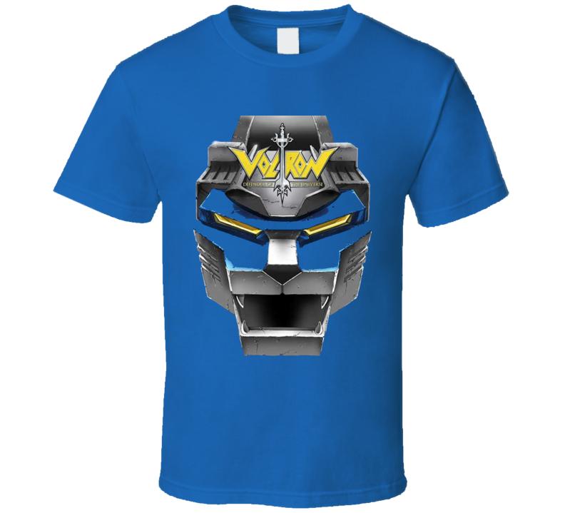 Voltron Retro Robot Anime Tv T Shirt