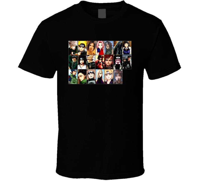 Naruto Shippuden Anime Magna Team 7 T Shirt
