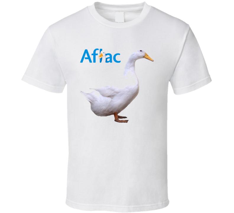 Aflac White Duck Mascot T Shirt