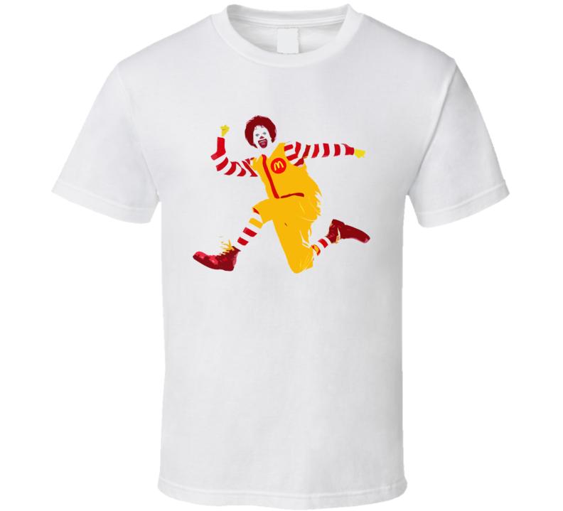 Ronald McDonald Restaurant Style Mascot T Shirt