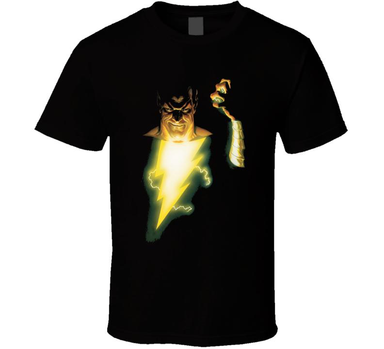Black Adam Shazam Captain Marvel Cartoon T Shirt