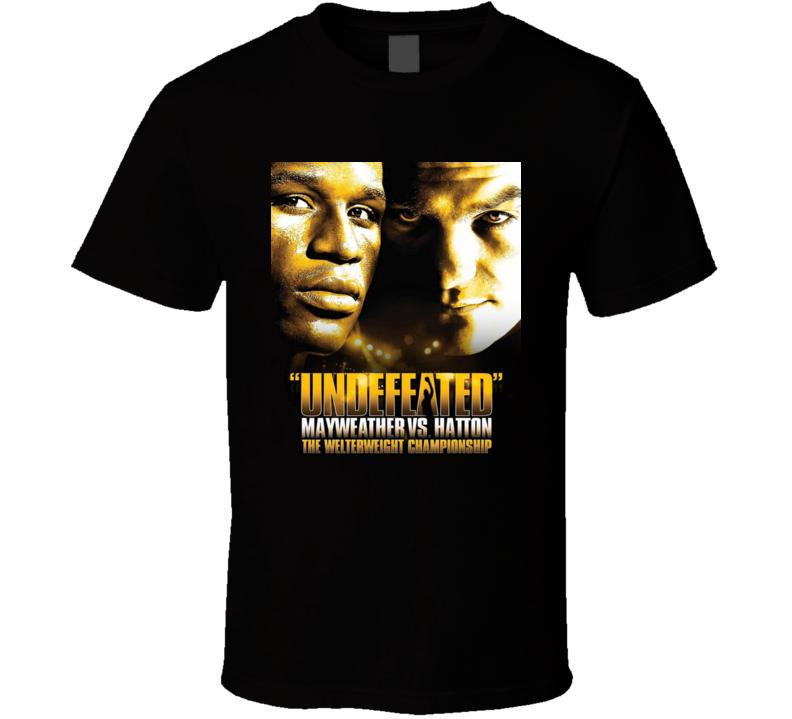 Floyd Mayweather Ricky Hatton Undefeated Boxing Promo T Shirt