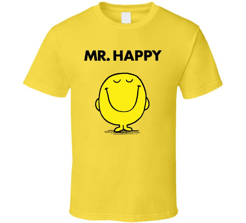 Mr Happy Mr Men Children's Book T Shirt