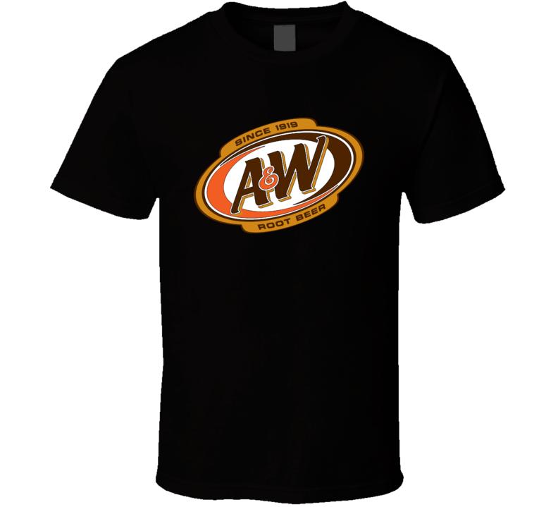 AW Root Beer Resturant Hamburgers Fan Logo Parody T Shirt