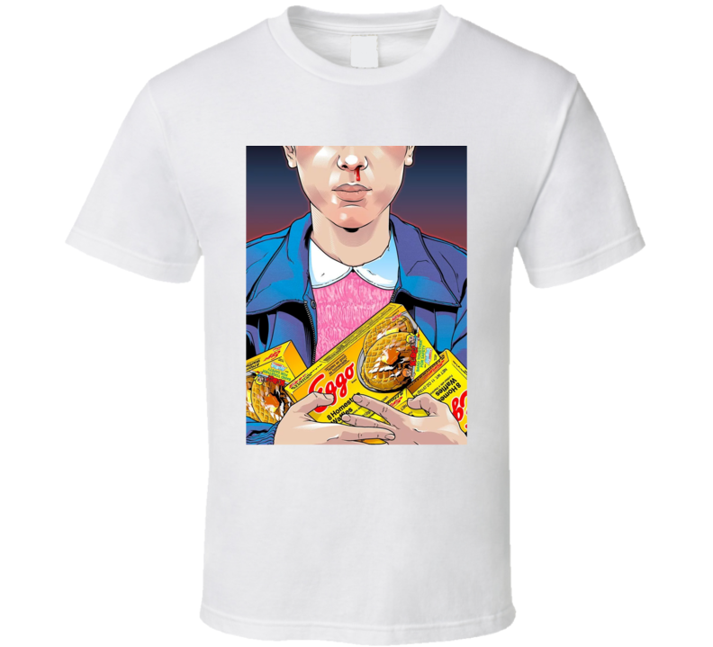 Stranger Things Eggo Eleven TV Parody Fan T Shirt