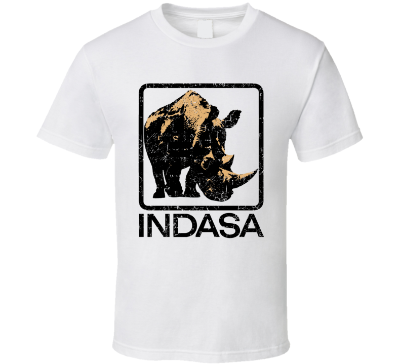 Indasa Automobile Car Truck Motorcycle Auto Parts Cool Distressed Style Brand Logo Emblem T Shirt