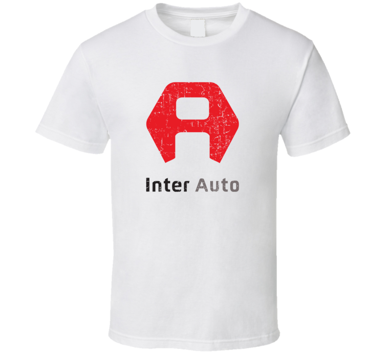 Inter Auto Automobile Car Truck Motorcycle Auto Parts Cool Distressed Style Brand Logo Emblem T Shirt