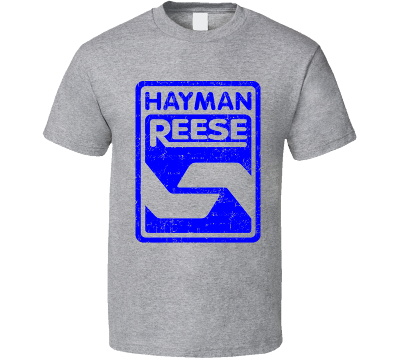 Hayman Reese Automobile Car Truck Motorcycle Auto Parts Cool Distressed Style Brand Logo Emblem T Shirt