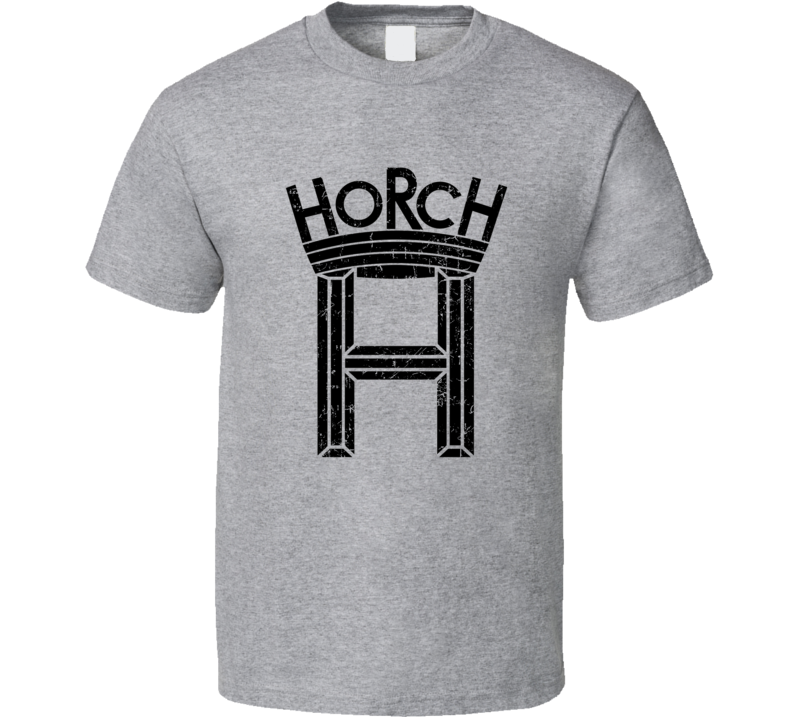 Horch Automobile Car Truck Motorcycle Auto Parts Cool Distressed Style Brand Logo Emblem T Shirt