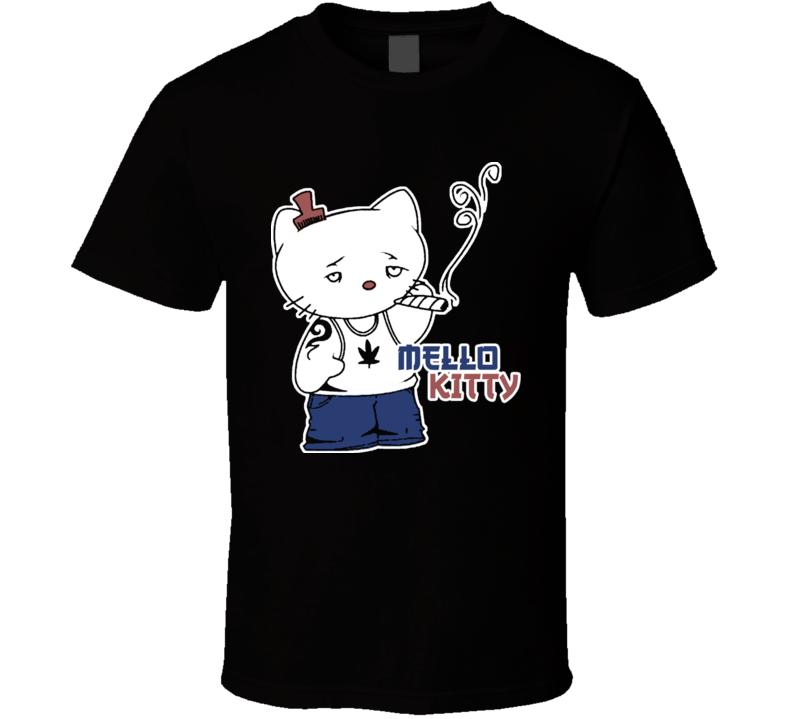 Mello Kitty Funny Hello Kitty Parody T Shirt