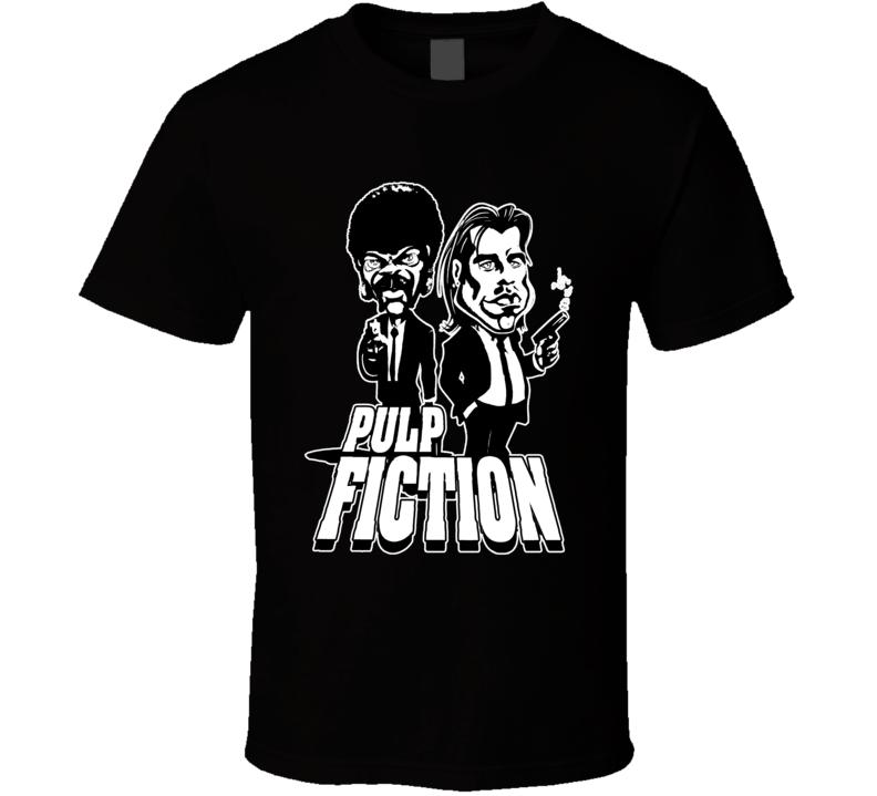 Pulp Fiction Jules Vincent Gangster Movie Fan Parody T Shirt