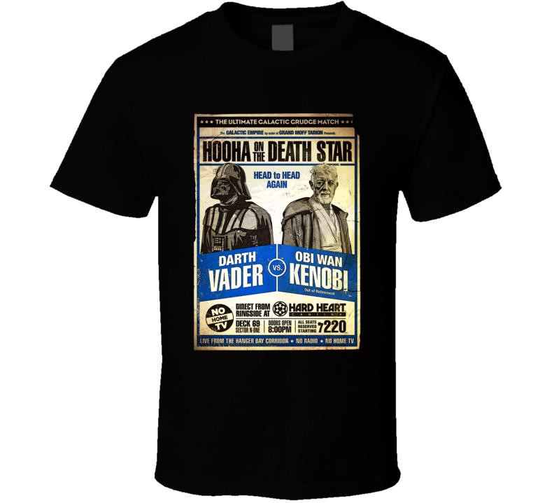 Darth Vader Vs Obi Wan Kenobi Death Star Wars Parody Fanboy T Shirt