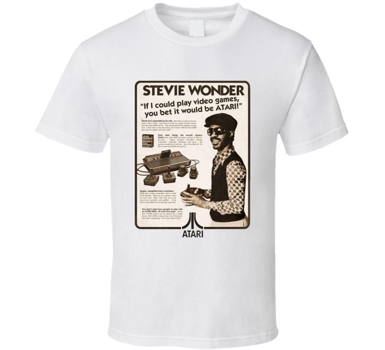 Video Game Ad Vintage Retro Stevie Wonder Parody Gamer T Shirt
