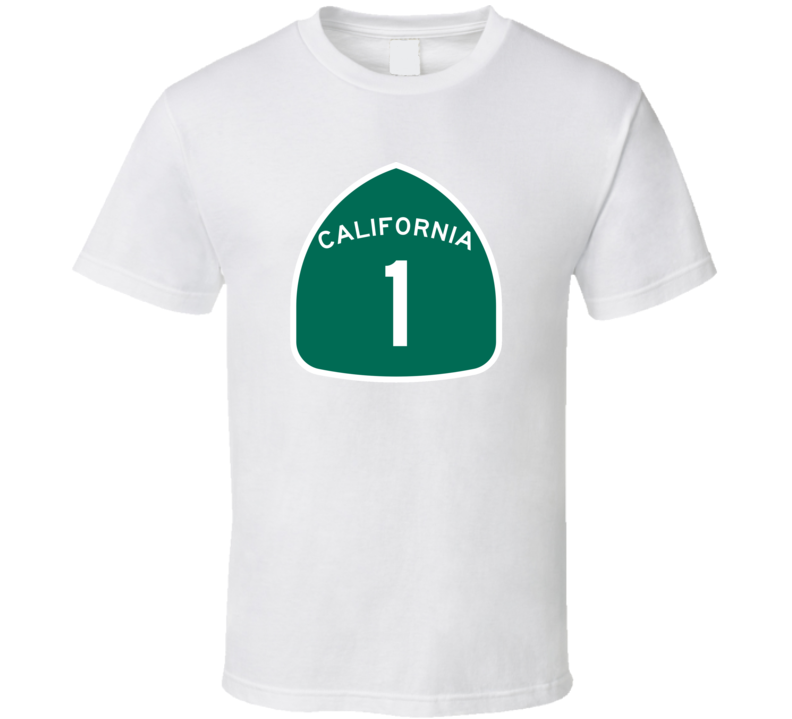 California 1 State Highway Pacific USA Car Fan T Shirt
