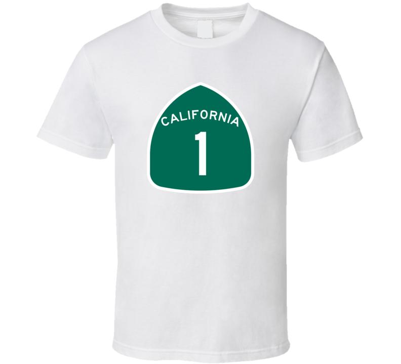 California 1 State Highway Pacific USA Car Fan T Shirt