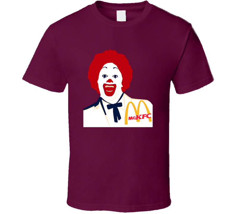 McKFC McDonalds Parody Funny Ronald Fast Food Fan T Shirt