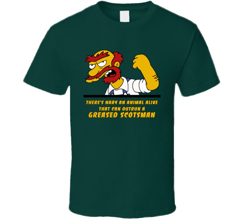 Groundskeeper Willie Simpsons Funny Quote T Shirt