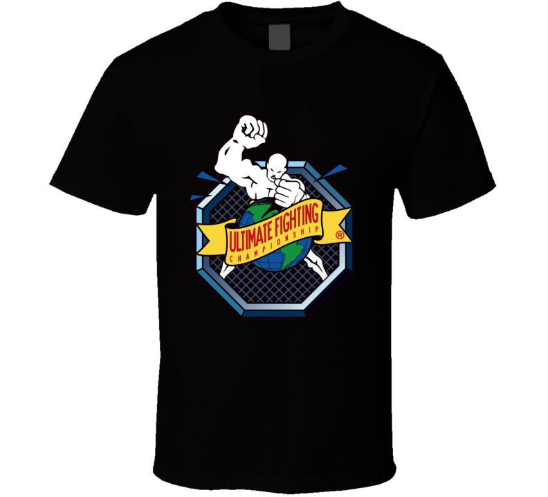 UFC Ultimate Fighting MMA Retro Logo Boxing Jiu-Jitsu Fan T Shirt