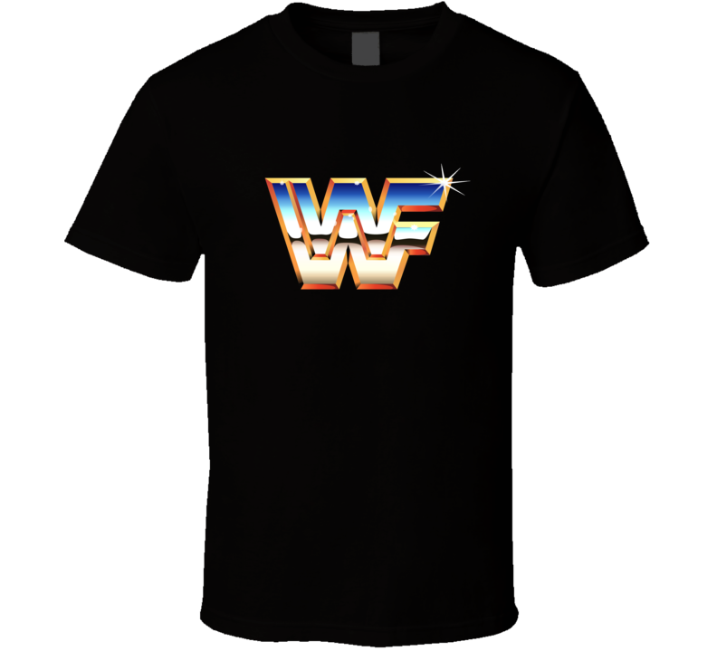 WWF Wrestling Retro Logo 80s Legend Fan T Shirt