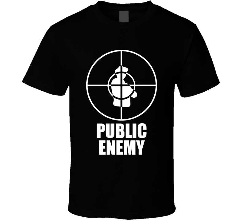 New Public Enemy Vintage Cross Hairs Cool T Shirt