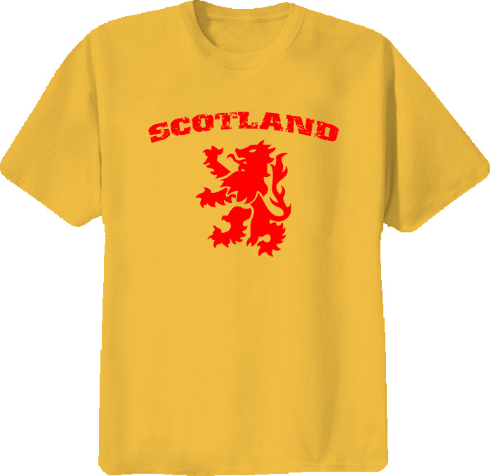 Scotland Country Lion T Shirt